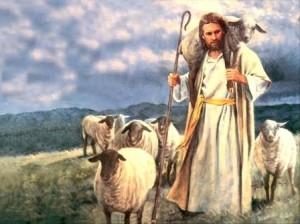 Tuhan menggendong dombanya